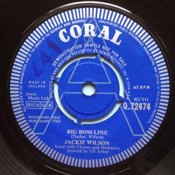 Jackie Wilson - Big Boss Line - U.K. Coral demo - Ex-