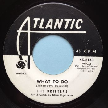 Drifters - What to do - Atlantic promo - Ex