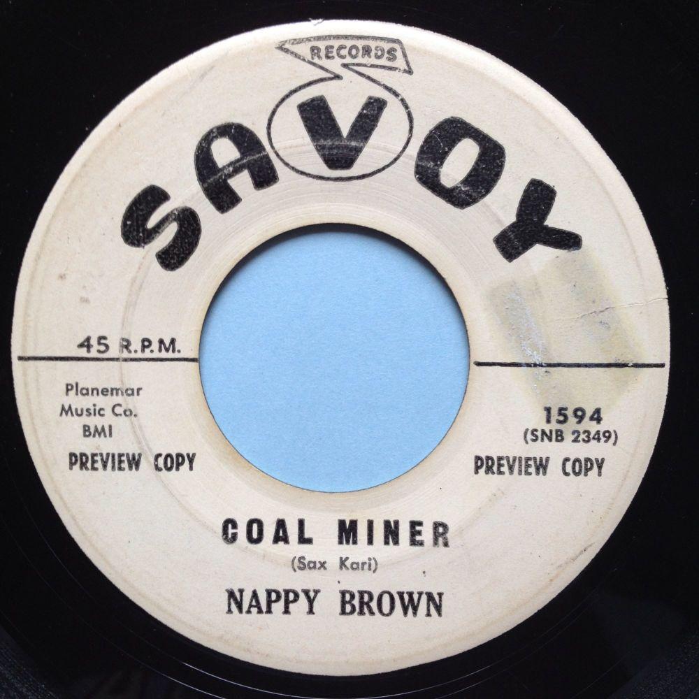 Nappy Brown - Coal Miner - Savoy promo - VG+