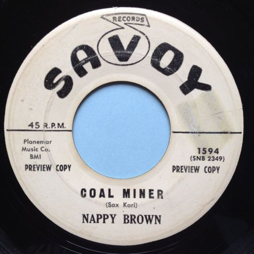 Nappy Brown - Coal Miner - Savoy promo - VG+