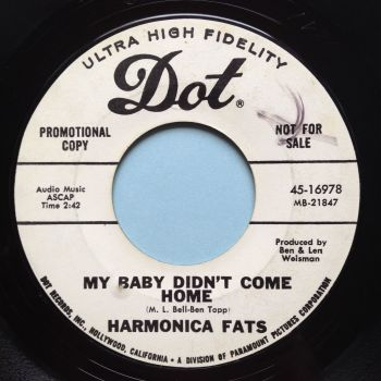 Harmonica Fats - My baby didn't come home - Dot promo - Ex-