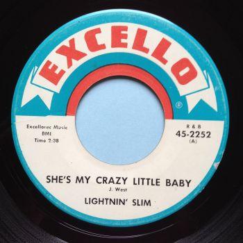 Lightnin' Slim - She's my crazy little baby - Excello - Ex-
