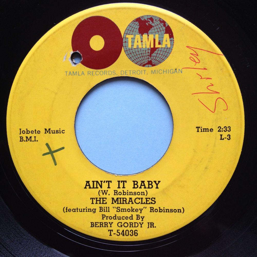 Miracles - Ain't it baby - Tamla - Ex-