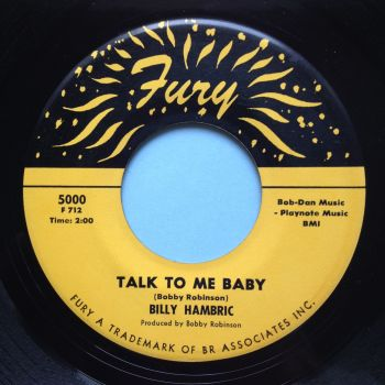 Billy Hambric - Talk to me baby - Fury - Ex