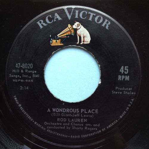 Rod Lauren - Wondrous place - RCA - Ex-