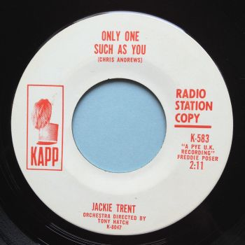 Jackie Trent - Only one such as you - Kapp promo - Ex