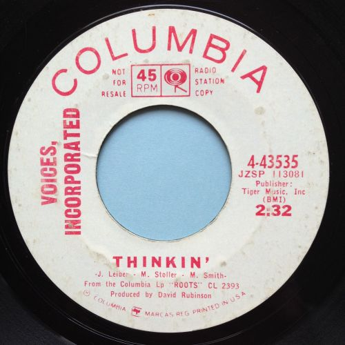 Voices Incorporated - Thinkin' - Columbia promo - looks VG plays VG+