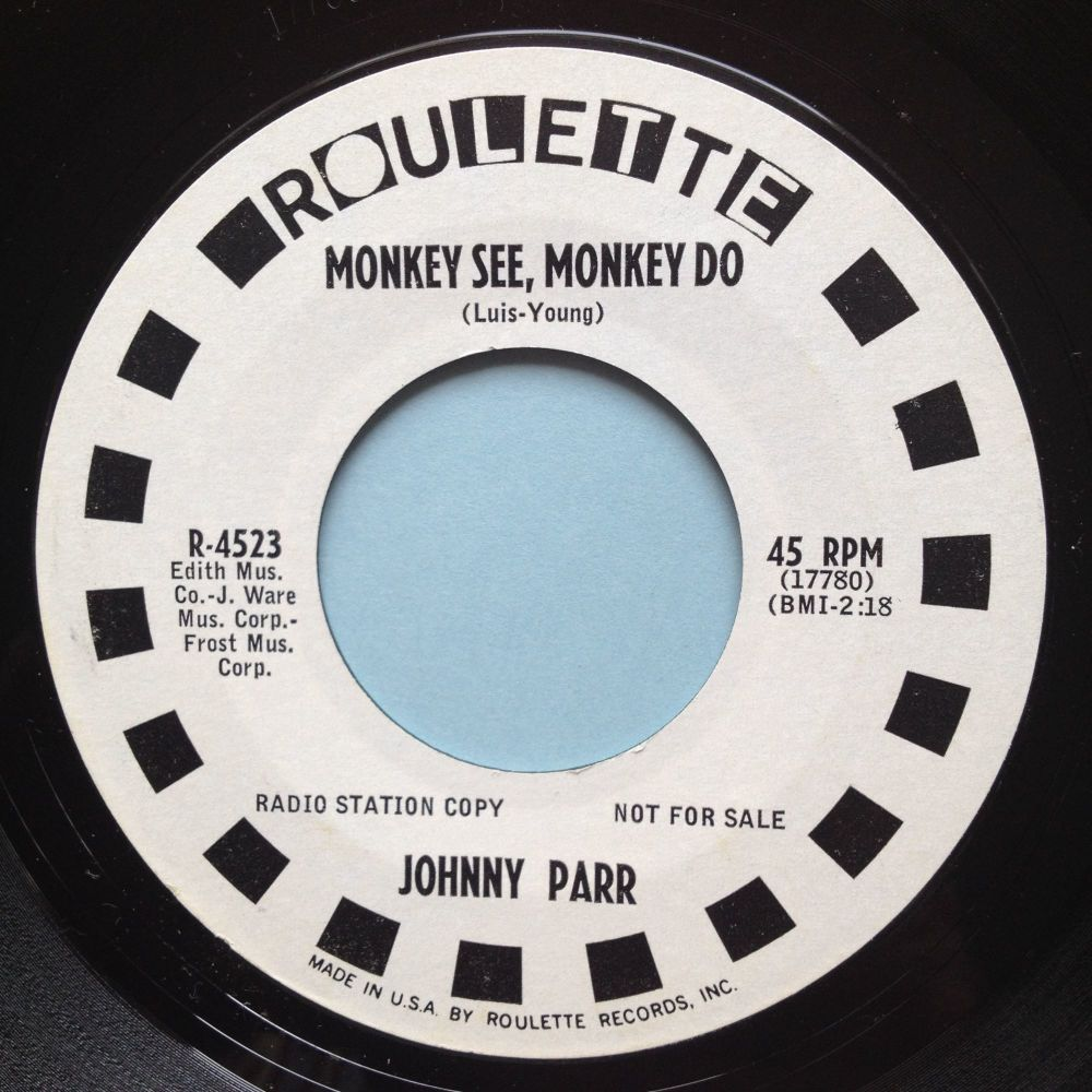Johnny Parr - Monkey See, Monkey Do - Roulette promo - Ex