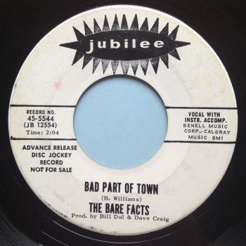Bare Facts - Bad part of town b/w Georgiana - Jubilee promo - Ex-
