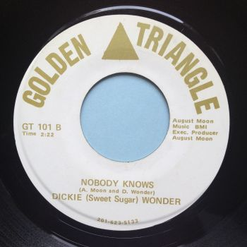 Dickie Wonder - Nobody knows - Golden Triangle - Ex (lable off centre)