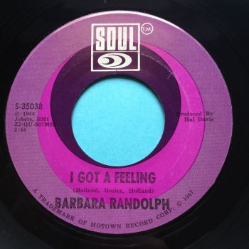Barbara Randolph - I got a feeling - Soul - Ex