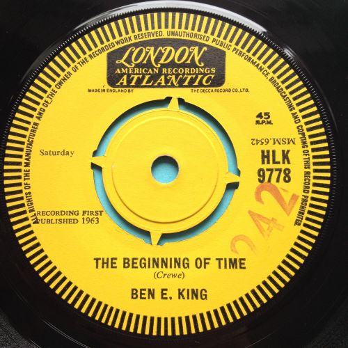 Ben E King - The Beginning of time b/w I (who have nothing) - UK London dem