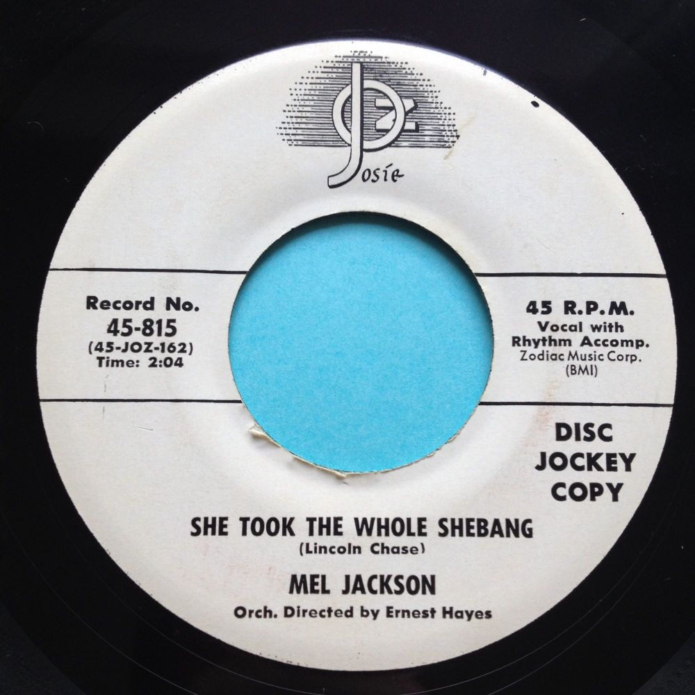 Mel Jackson - Move it over baby b/w She took the whole shebang - Josie prom