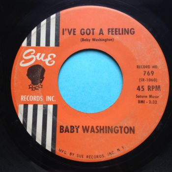 Baby Washington - I've got a feeling - Sue - Ex-