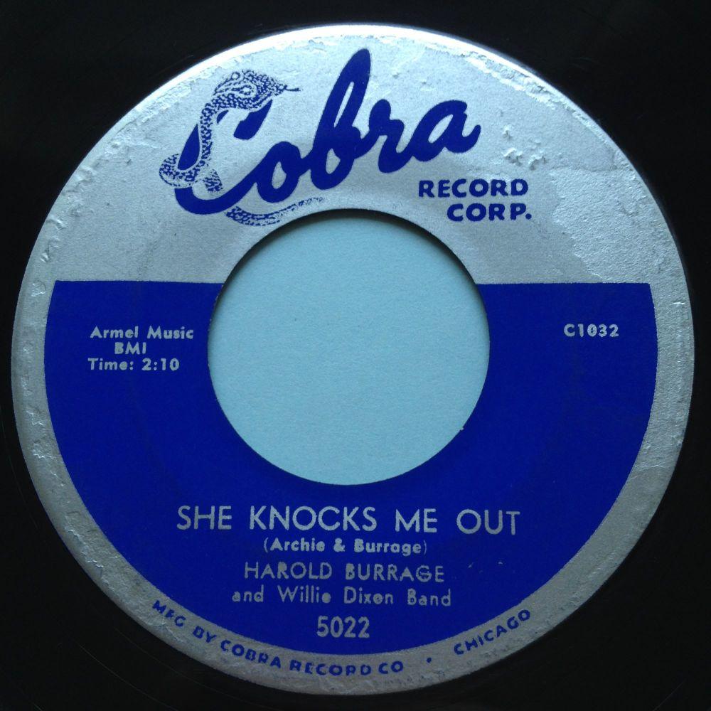 Harold Burrage - She knocks me out - Cobra - Ex-