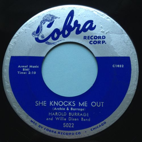 Harold Burrage - She knocks me out - Cobra - Ex-