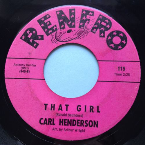 Carl Henderson - That Girl - Renfro - VG+