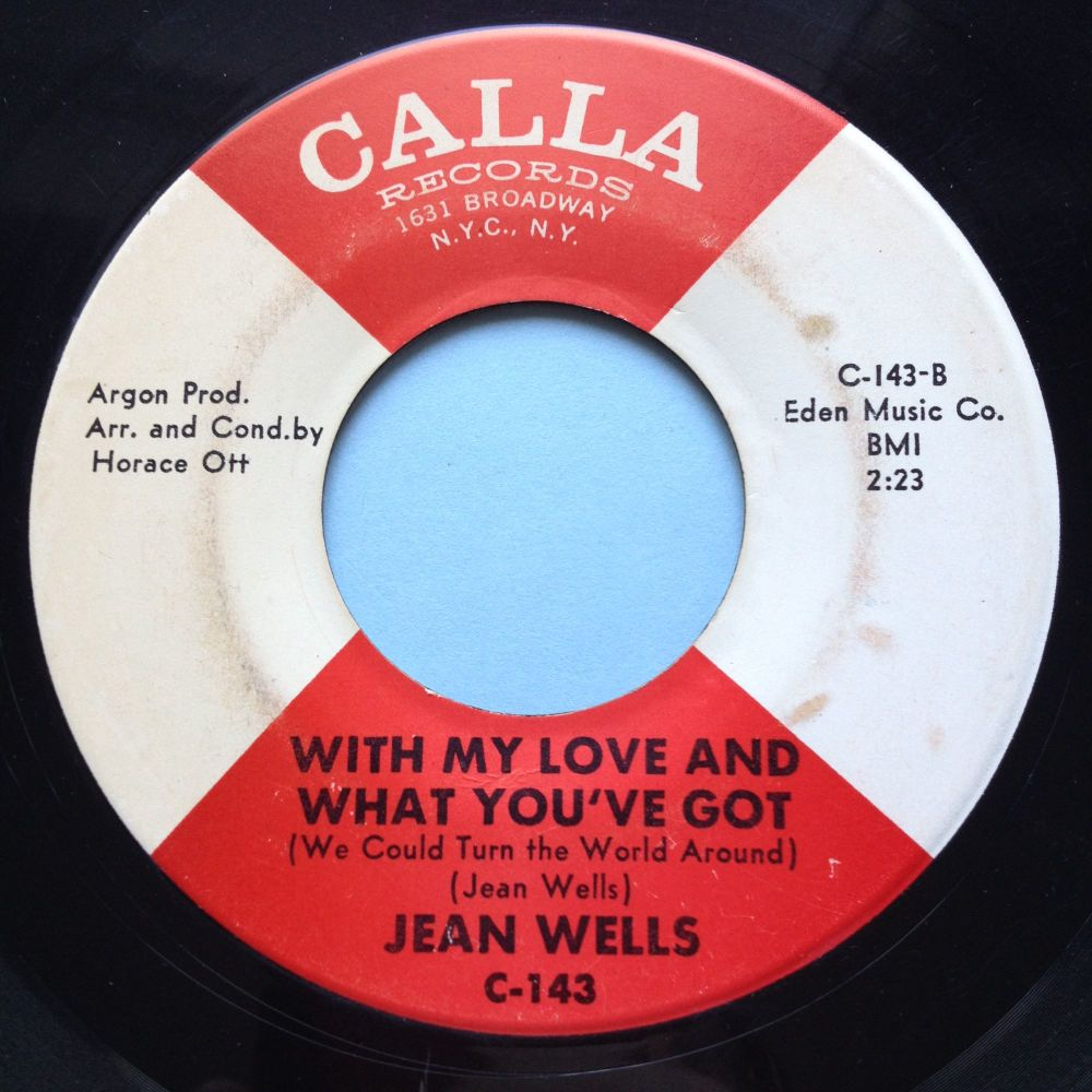 Jean Wells - With my love and what you've got - Calla- VG+