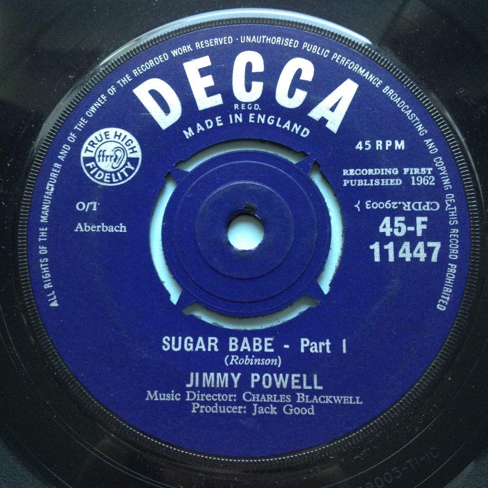 Jimmy Powell - Sugar Babe Pt1 / Pt2 - U.K. Decca - Ex