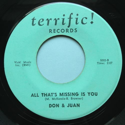 Don & Juan - All that's missing is you b/w What's your name - Terrific - Ex