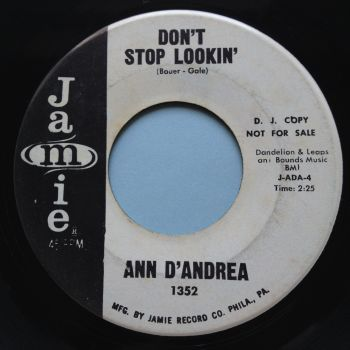 Ann D'Andrea - Don't stop lookin' - Jamie promo - VG+