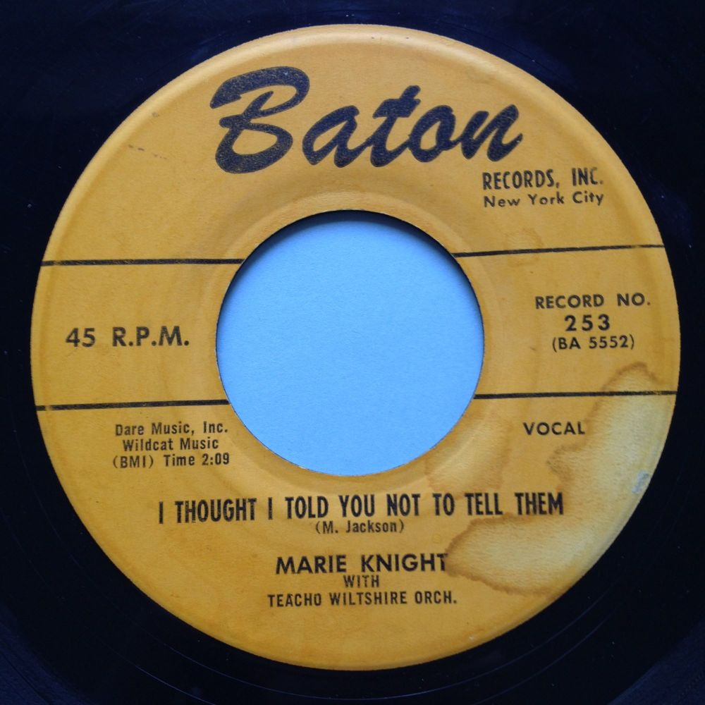 Marie Knight - I thought I told you not to tell them - Baton - VG+