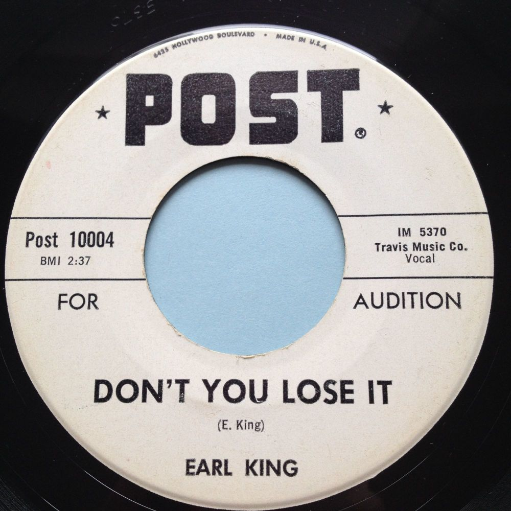 Earl King - Don't you lose it - Post promo - Ex-