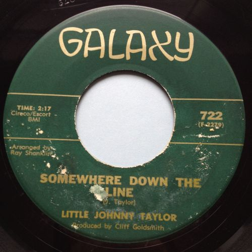 Little Johnny Taylor - Somewhere down the line - Galaxy - VG+