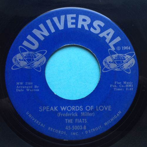 Fiats - Speak words of love - Universal - Ex