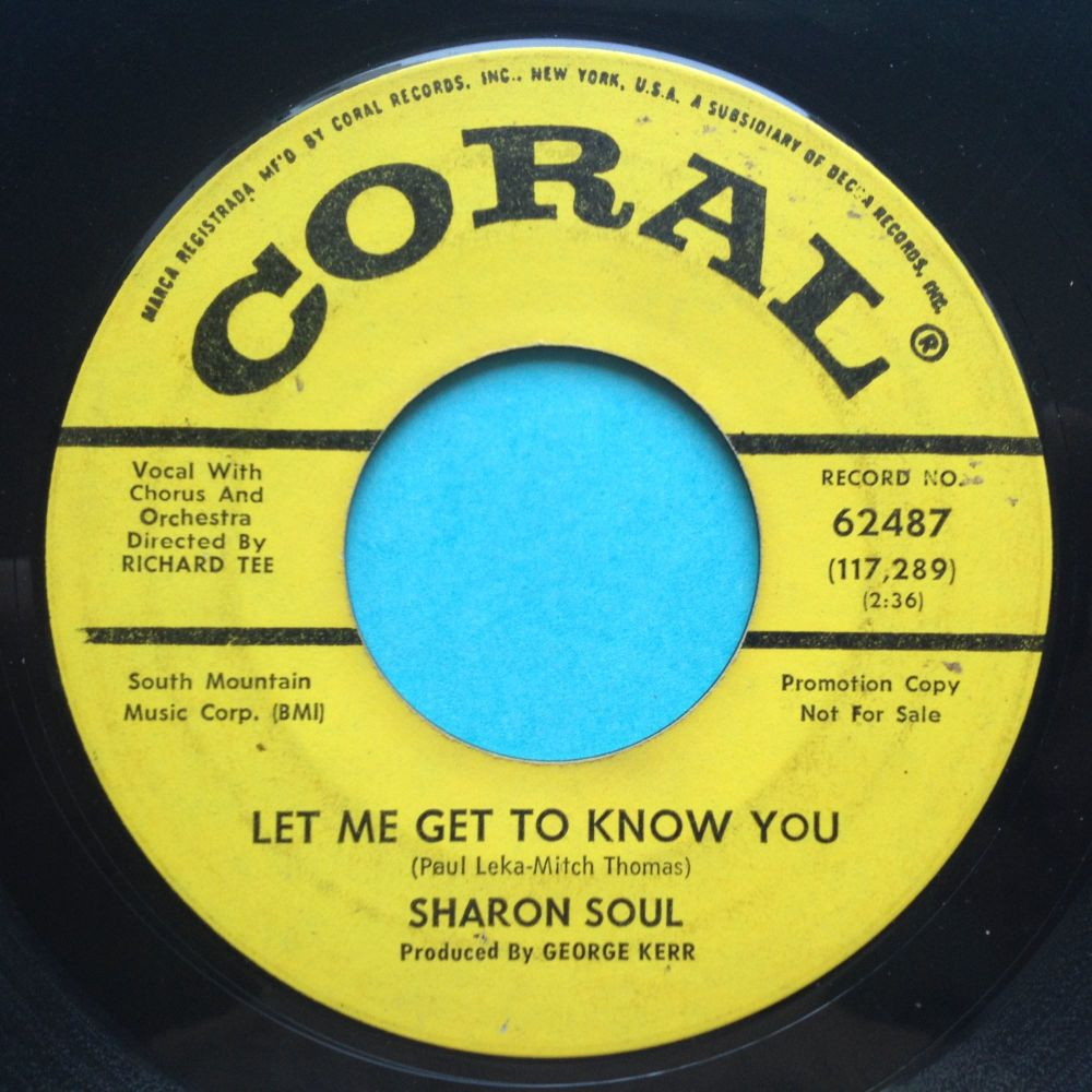 Sharon Soul - Let me get to know you - Coral promo - Ex-
