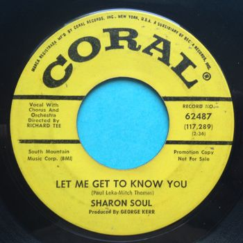 Sharon Soul - Hi love is amazing b/w Let me get to know you - Coral promo - VG+