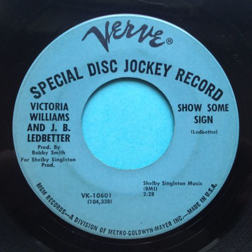 Victoria Williams and J B Ledbetter - Show some sign - Verve - VG+