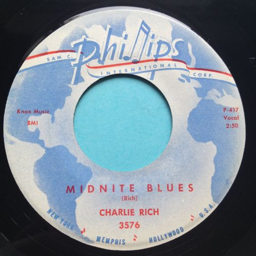 Charlie Rich - Midnite Blues - Phillips - Ex