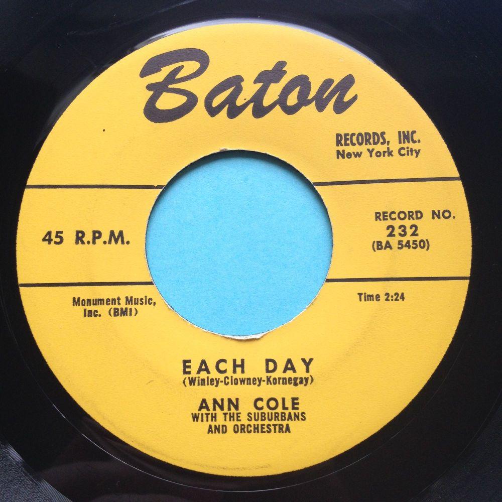 Ann Cole - Each Day - Baton - Ex-