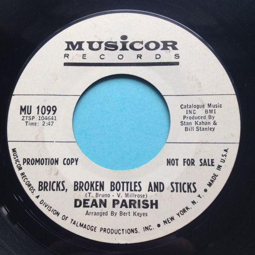 Dean Parrish - Bricks, broken bottles and sticks - Musicor promo - Ex