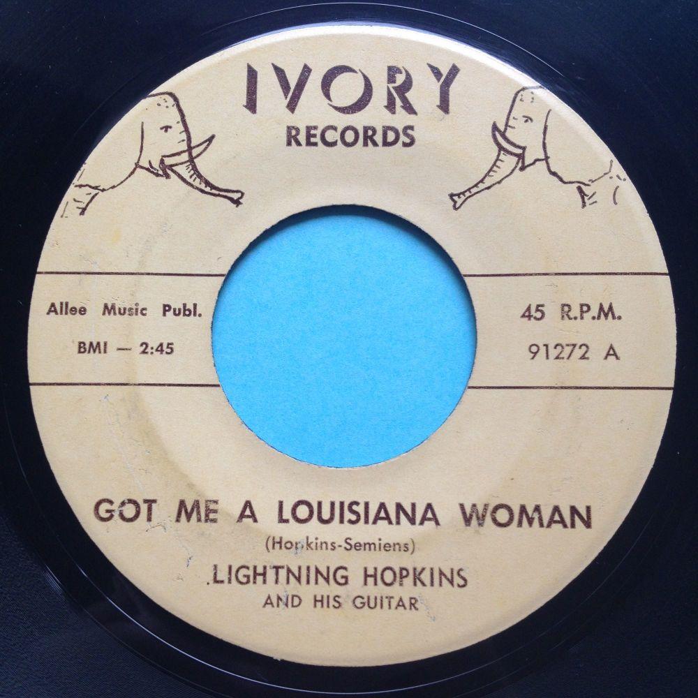 Lightning Hopkins - Got me a Louisiana woman - Ivory - Ex-