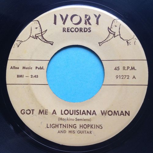 Lightning Hopkins - Got me a Louisiana woman - Ivory - Ex-