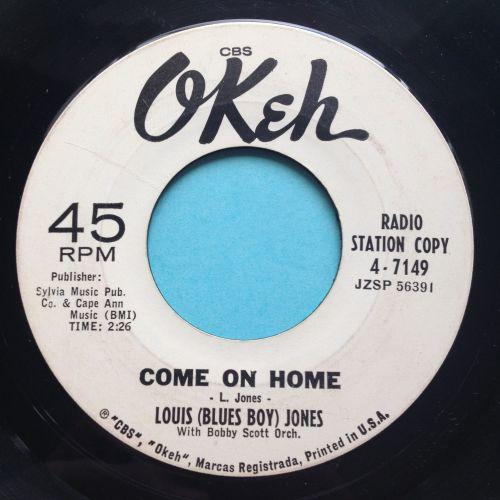 Louis (Blues Boy) Jones - Come on home - Okeh promo - Ex