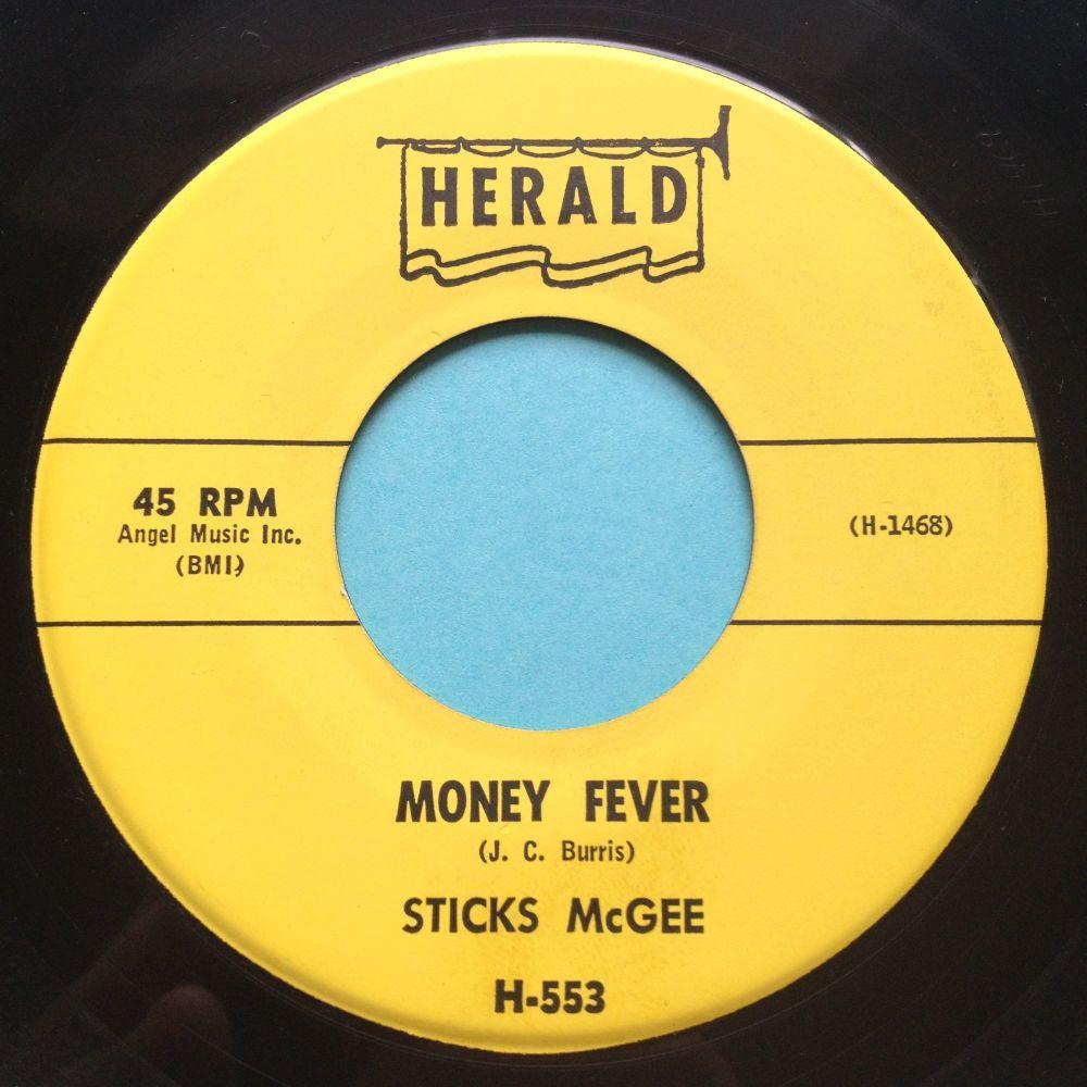 Sticks McGee - Money Fever - Herald - Ex