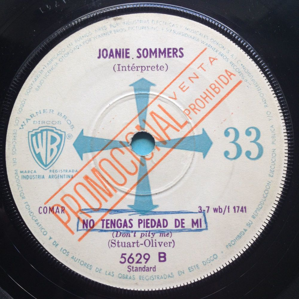 Joanie Sommers - Don't pity me - WB - VG to VG+