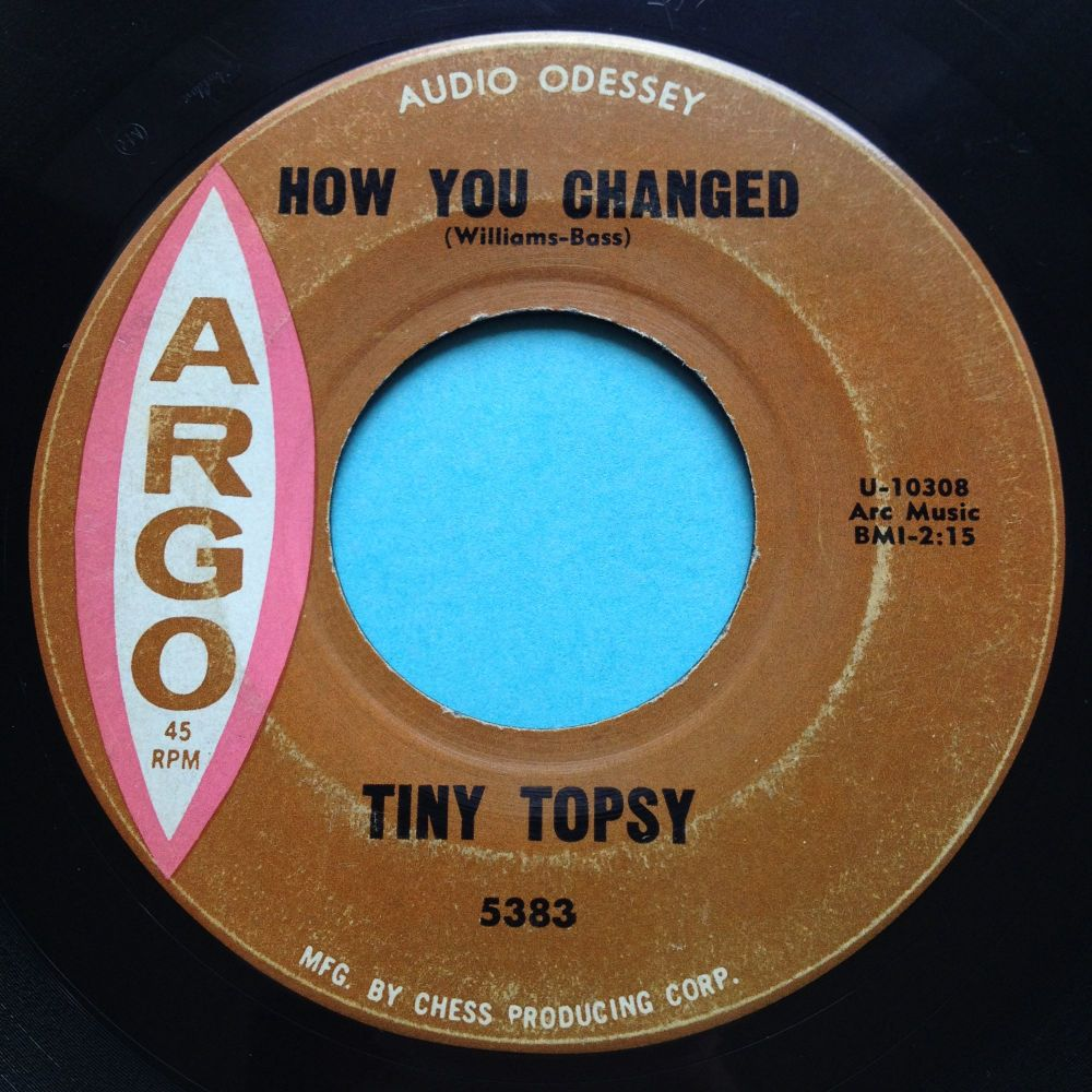 Tiny Topsy - How you changed - Argo - VG+