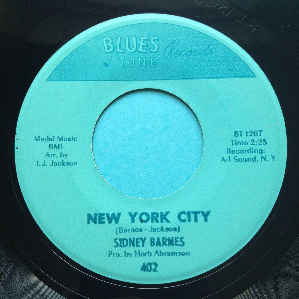 Sidney Barnes - New York City b/w Talkin' 'bout a shindig - Blues Tone - Ex