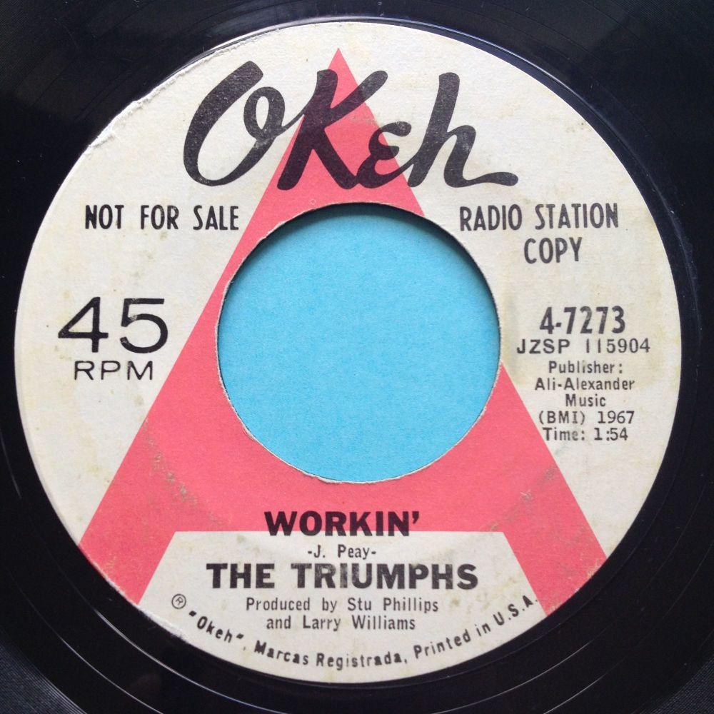 Triumphs - Workin' - Okeh promo - VG+