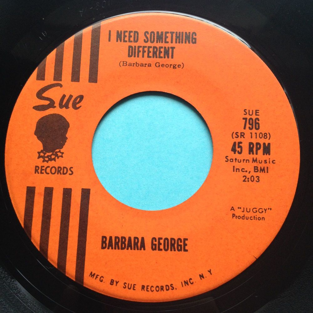 Barbara George - I need something different b/w Somethings definately wrong