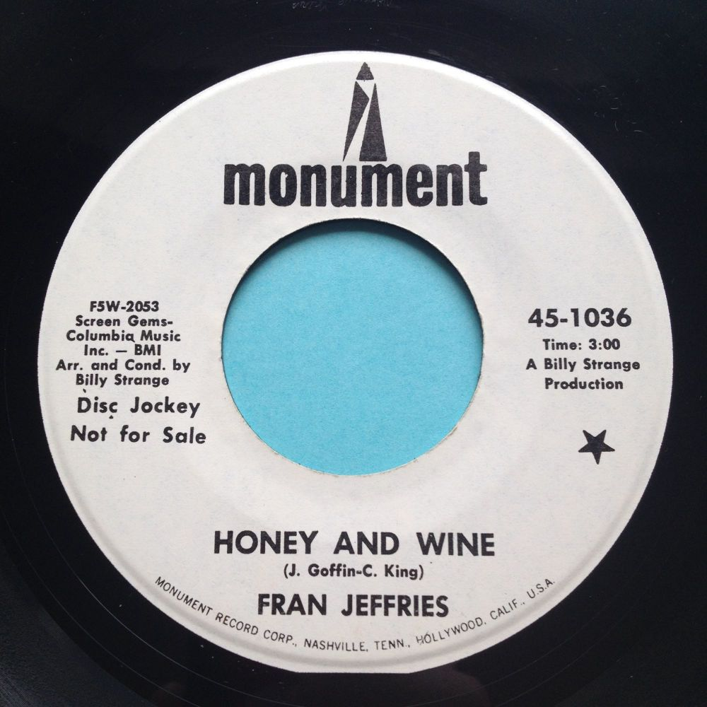 Fran Jeffries - Honey and Wine - Monument promo - Ex