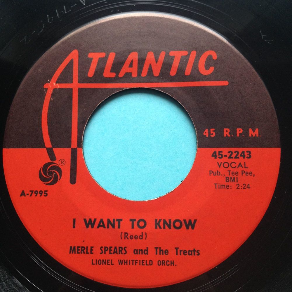 Merle Spears -  I want to know - Atlantic - Ex