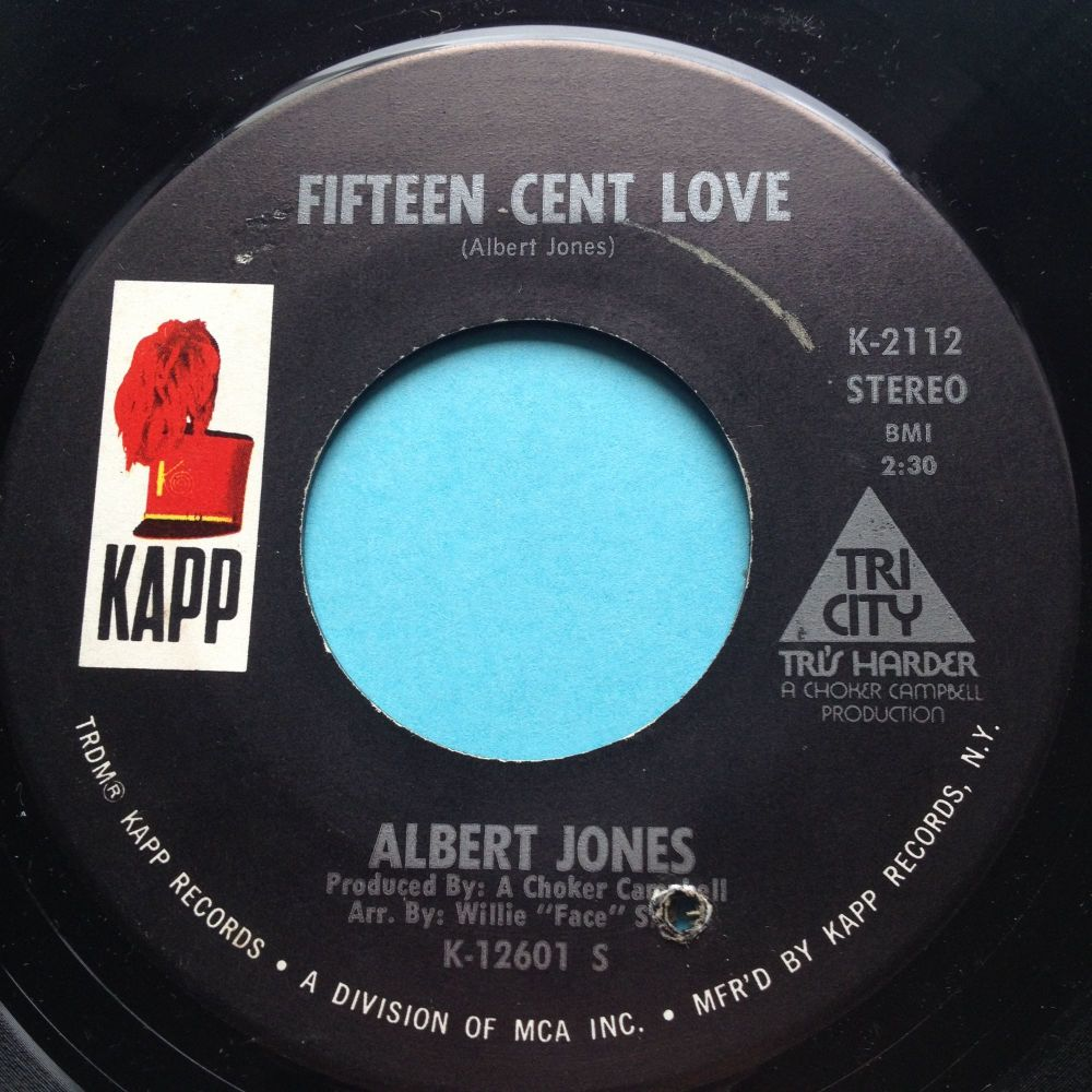 Albert Jones - Fifteen Cent Love - Kapp - Ex