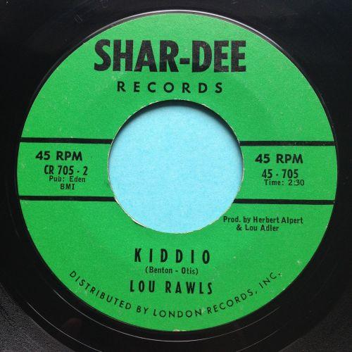 Lou Rawls - Kiddio - Shar-Dee - VG+