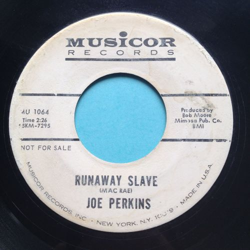 Joe Perkins - Runaway Slave - Musicor promo - VG