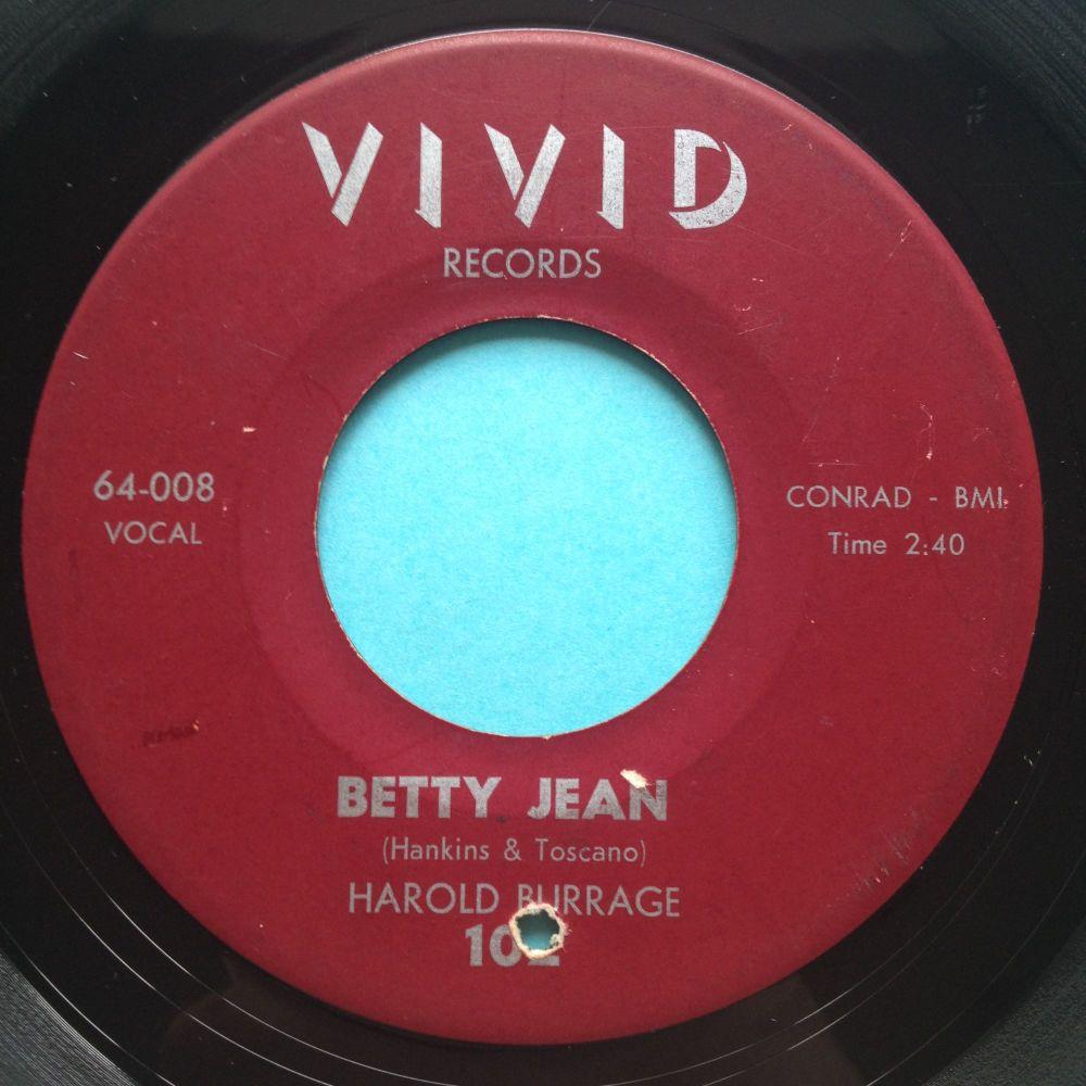 Harold Burrage - Betty Jean - Vivid - VG+